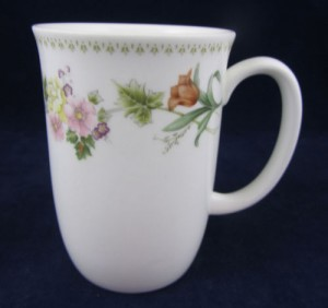 Wedgwood Mirabelle Pattern Floral Coffee Mug White Bone China