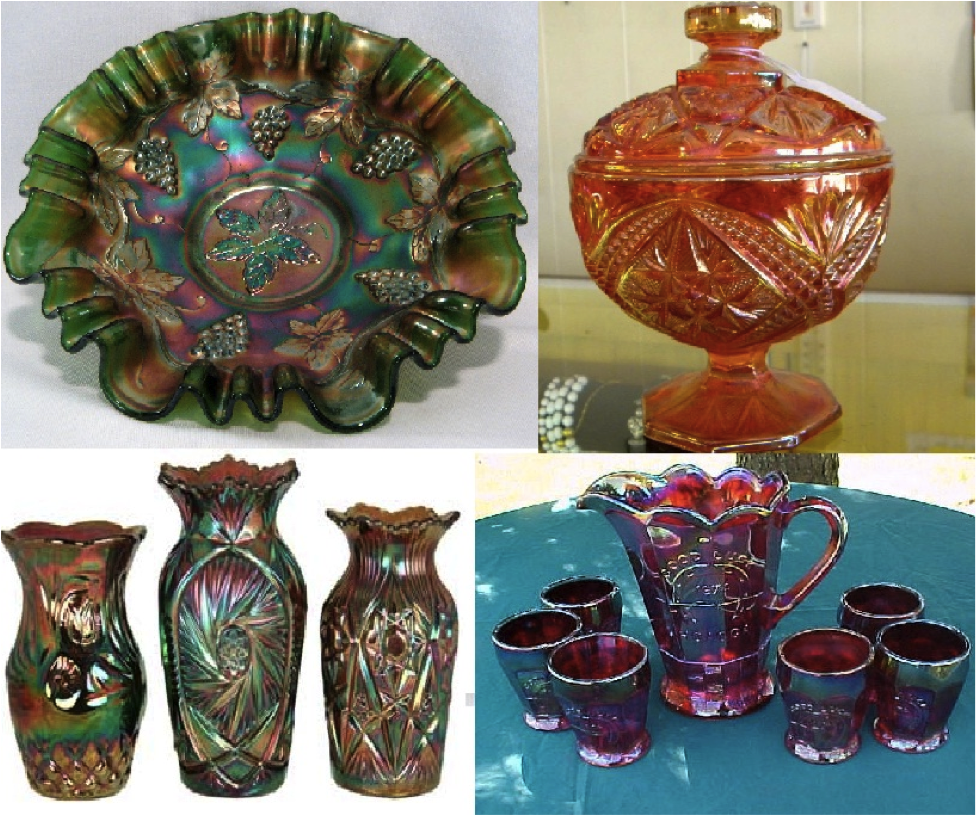 Carnival glass glass theescapeplaceblog the first carnival glass was produced by fenton glass company in 1907 with the aim to produce an elegant yet less expensive competitor of the iridescent art reviewsmspy