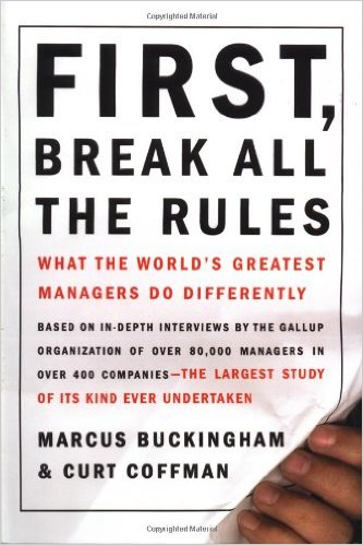 First, Break all the rules book